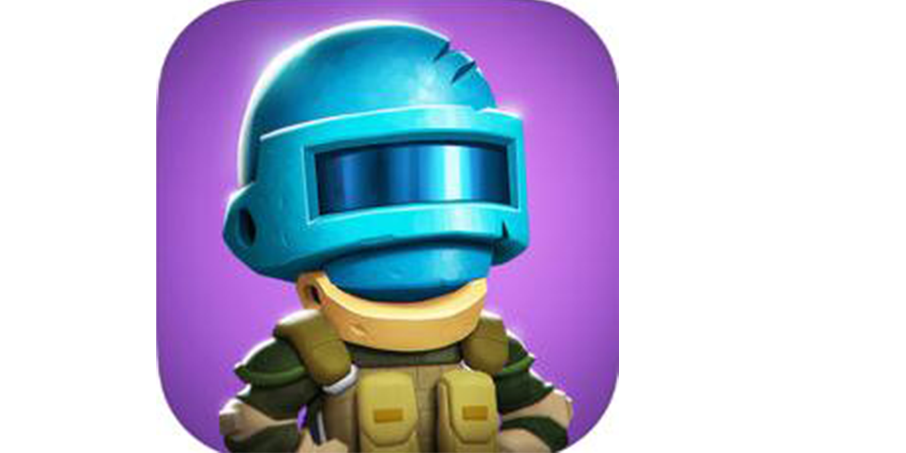 app icon badge with figure wearing helmet and armor suit